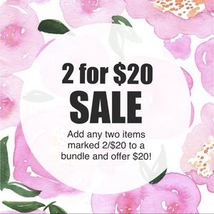2/$20 SALE WHILE SUPPLIES LAST!